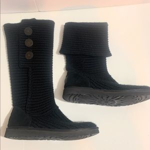UGG knit cardy sweater boots